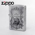 【詮國】Zippo 日系經典打火機 - 骷髏海盜限量版 / 藏寶圖蝕刻圖紋 (銀色款) 2ZT-GT/SA / ZP494