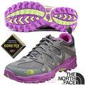 【美國 The North Face】女新款 TETSU GTX Gore-Tex 低筒登山健行鞋.多功能越野跑鞋.慢跑鞋/A2Y1 銀灰/桃粉紫 V