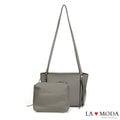 La Moda 品牌專屬系列・側肩子母拉鍊造型托特包 (共3色)