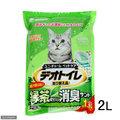 日本UNICHARM嬌聯6885消臭抗菌綠茶砂 2L ~雙層貓砂盆專用紙砂貓砂~每月替換即可 單包賣場