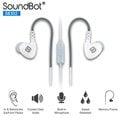美國聲霸SoundBot SB302 運動防汗超重低音型耳塞 + 耳掛式耳機(福利品)(外盒輕微受損)