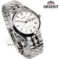 ORIENT 東方錶 都會時尚圓錶 日期顯示 不銹鋼帶 白色 男錶 FUG1Y003W