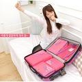 加厚防水旅行收納袋整理洗漱鞋袋韓國行李箱內衣物收納包五件套裝
