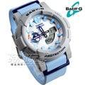 Baby-G CASIO卡西歐 衝浪板造型清新海洋風新色概念錶 藍x灰框 女錶 BGA-185-2A BGA-185-2ADR