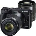 ☆天辰3C☆中和 單眼相機 Canon EOS M3 STM 變焦雙鏡組 搭配 攜碼跳槽 台灣大哥大 4G 998 方案