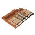 BURBERRY 經典戰馬格紋羊毛混紡披肩/圍巾(咖啡色)