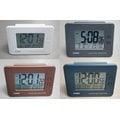 CASIO CLOCK 卡西歐溫度溼度月份日期星期冷光鬧鐘座鐘兩用四色款任選其一 型號:DQ-982N【神梭鐘錶】