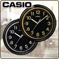 CASIO 時計屋 CASIO 掛鐘 IQ-59-1B / 1D 簡約黑金圓形掛鐘 全新