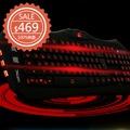 奇酷3C血魔游戲鍵盤發光靜音筆記本台式電腦有線USB夜光鍵盤CF LOL