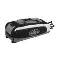 「野球魂」--「Louisville」【314 RG】系列滾輪裝備袋(LEBS314RGBK,黑色)可放4支球棒