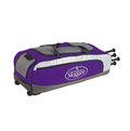 「野球魂」--「Louisville」【314 RG】系列滾輪裝備袋(LEBS314RGPU,紫色)可放4支球棒