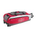 「野球魂」--「Louisville」【314 RG】系列滾輪裝備袋(LEBS314RGSR,紅色)可放4支球棒