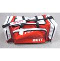 「野球魂」--「ZETT」大型遠征袋(BAT-66N,紅×白色)