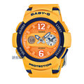 【錶飾精品】現貨CASIO卡西歐Baby-G運動風格BGA-210-4B 橘藍 兩地時間 全新原廠正品 生日 情人節 禮物 禮品