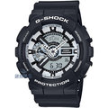 【錶飾精品】現貨CASIO卡西歐G-SHOCK 液晶顯示GA-110BW-1ADR 消光黑GA-110BW-1A全新原廠正品 生日 情人 禮品