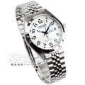 OMAX 時尚質感腕錶 男錶 白x藍 日期星期顯示 藍寶石水晶 OMAX4004M白藍