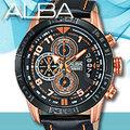 ALBA 雅柏 手錶專賣店 AV6056X1 男錶 石英錶 真皮皮革錶帶 三眼計時 日期 全新品 保固一年 開發票