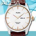 ALBA 雅柏 手錶專賣店 AV3333X1 男錶 石英錶 褐色真皮皮革錶帶 星期 日期 全新品 保固一年 開發票
