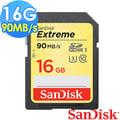 【SanDisk 新帝】16GB Extreme SDHC UHS-I U3 90MB/s 記憶卡 (公司貨)