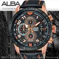 ALBA 雅柏 手錶專賣店 AV6056X1 男錶 石英錶 真皮皮革錶帶 三眼計時 日期 全新品 保固一年