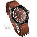 CURREN 簡約潮男時尚腕錶 男錶 IP黑電鍍x軍咖啡 帆布錶 CU8195軍咖