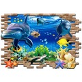 【收藏天地】創意生活*3D海底世界壁貼∕ 家飾 居家 裝飾 佈置 環保