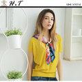 【H.T】全新/現貨 玄太服飾 簡約幾何織紋連身袖針織上衣(黃)