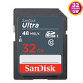 SanDisk 32GB 32G SDHC【48MB/s】Ultra SD UHS-I UHS C10 Class 10 SDSDUNB-032G 原廠包裝 相機記憶卡