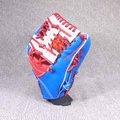 「野球魂」--「KAULIN」【店家特製】硬式棒球手套(內野手,紅×藍色)