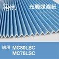 【怡悅光觸媒濾紙】適用大金(DAIKIN)MC80JSC.MC75JSC.MC75LSC 同KAC998A4 (四片賣場)