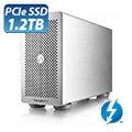 破盤價!AKiTiO 雷霆 3 外接 PCIe 1.2TB SSDThunder3 PCIe 1.2TB SSD 外接盒 Thunderbolt3 + Display