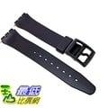 [105美國直購] Swatch Replacement Synthetic Plastic Black 17mm Watch Strap 錶帶
