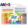 韓國AMOS | 24色塑膠盒中水蠟筆(最新款式)