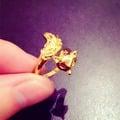 歐幣打造時尚狐貍款式純金顏色百搭歐幣戒指永不掉色首飾品批發價
