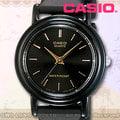 CASIO 卡西歐 手錶專賣店 LQ-139EMV-1A 膠質錶帶 黑面金丁字 日常防水