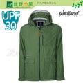 《綠野山房》Wildland 荒野 台灣 男款 UPF30+ SUPPLEX抗UV時尚外套 薄風衣 旅行 戶外活動 露營 灰綠 0A31908-05