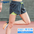 【Un-Sport高機能】雙層防走光100%透氣羽量短褲(馬拉松/路跑/健身) -格子