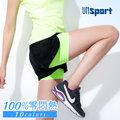 【Un-Sport高機能】雙層防走光100%透氣羽量短褲(馬拉松/路跑/健身) -撞色