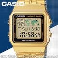 CASIO 手錶專賣店 A500WGA-1D 防水 LED照明 復古風 數字型 男錶 不鏽鋼 開發票