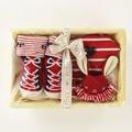 尼德斯Nydus~* 嚴選日本製 BE CERA 嬰兒/Baby用品 授乳圍兜 襪子 兔兔玩偶 禮盒 Born Free