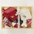 尼德斯Nydus~* 嚴選日本製 BE CERA 嬰兒/Baby用品 授乳圍兜 襪子 玩偶 禮盒-大 Born Free