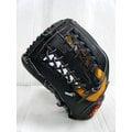 新莊新太陽 ZETT 5100 系列 BPGT-5127 A級 硬式 牛皮 棒壘手套 外野手 T字 黑黃 左投 特2500