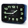 TQ-218 卡西歐 CASIO 簡約生活夜光桌上方型貪睡鬧鐘 - 黑面藍框 * 2 款