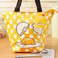 蛋黃哥 餃型便當袋/手提袋+台灣製環保三件式餐具組【ML0230+MF0183】(SL0031)