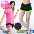 【Un-Sport高機能】螢光網眼速乾雙層短褲(馬拉松/健身/路跑)-超值買一送一