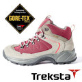 Treksta BACK COUNTRY 女 GORE-TEX 防水中筒登山鞋 (輕量 / 護趾 / 加強抓地力) 酒紅 KR16LW 戶外 健行鞋