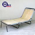 【YBA005】和風五段式三折包床折疊躺椅 天然竹片包邊涼床折疊床 MIT免運 Amos