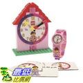 [美國直購] LEGO 9005039 時間教育 鬧鐘+手錶 女孩版 Time Teacher Pink Set with Plastic Watch