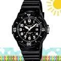 CASIO 時計屋 卡西歐指針錶 LRW-200H-1B 仿潛水錶設計 可轉式錶圈 輕量適合小手腕 附發票 保固