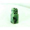 □§Disk的天然水晶§□【招財進寶】老坑花青翡翠貔貅雕刻印章印材BC14-A貨專賣